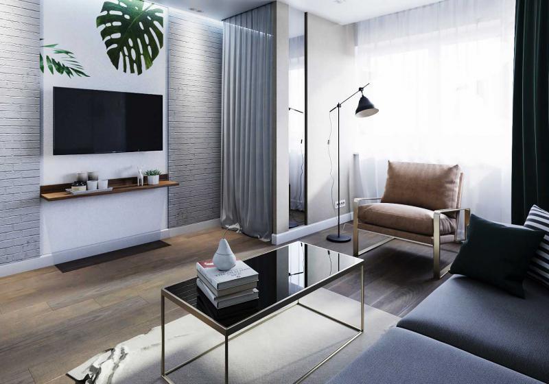 Дизайн интерьера жилой комнаты
