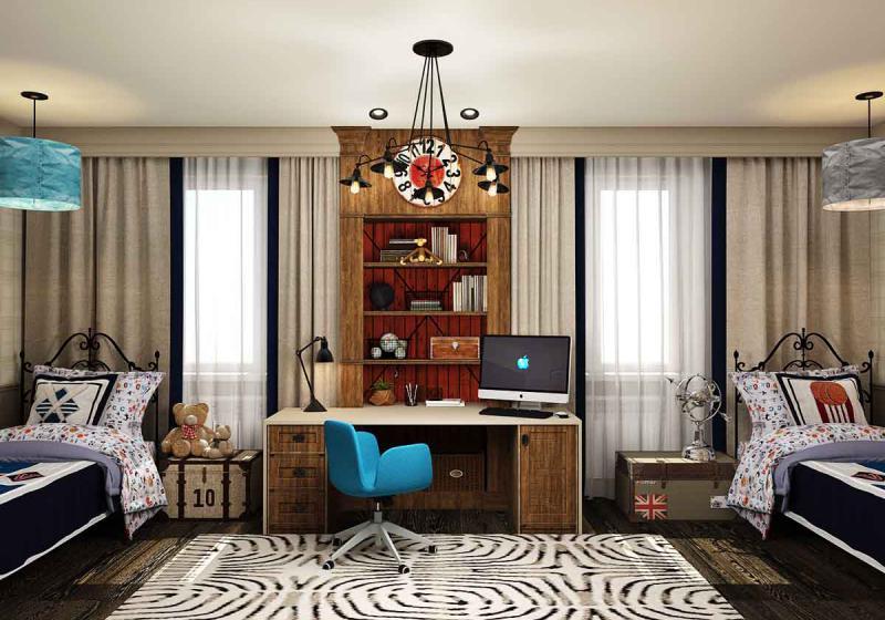 Комплектация интерьера мебелью